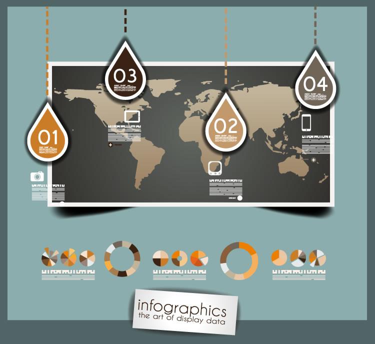 Infographics Drop Map