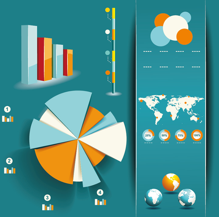 Infographics and chart design elements 6