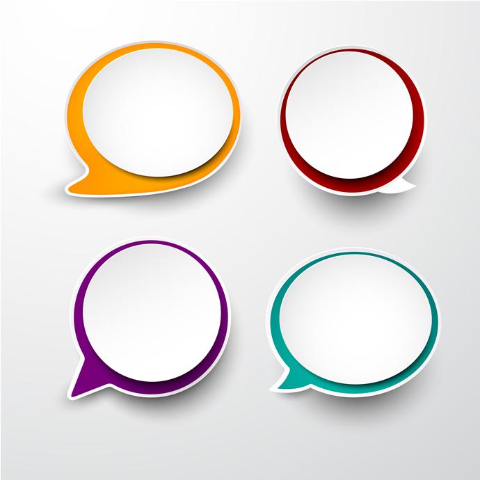 Message Bubble Infographics