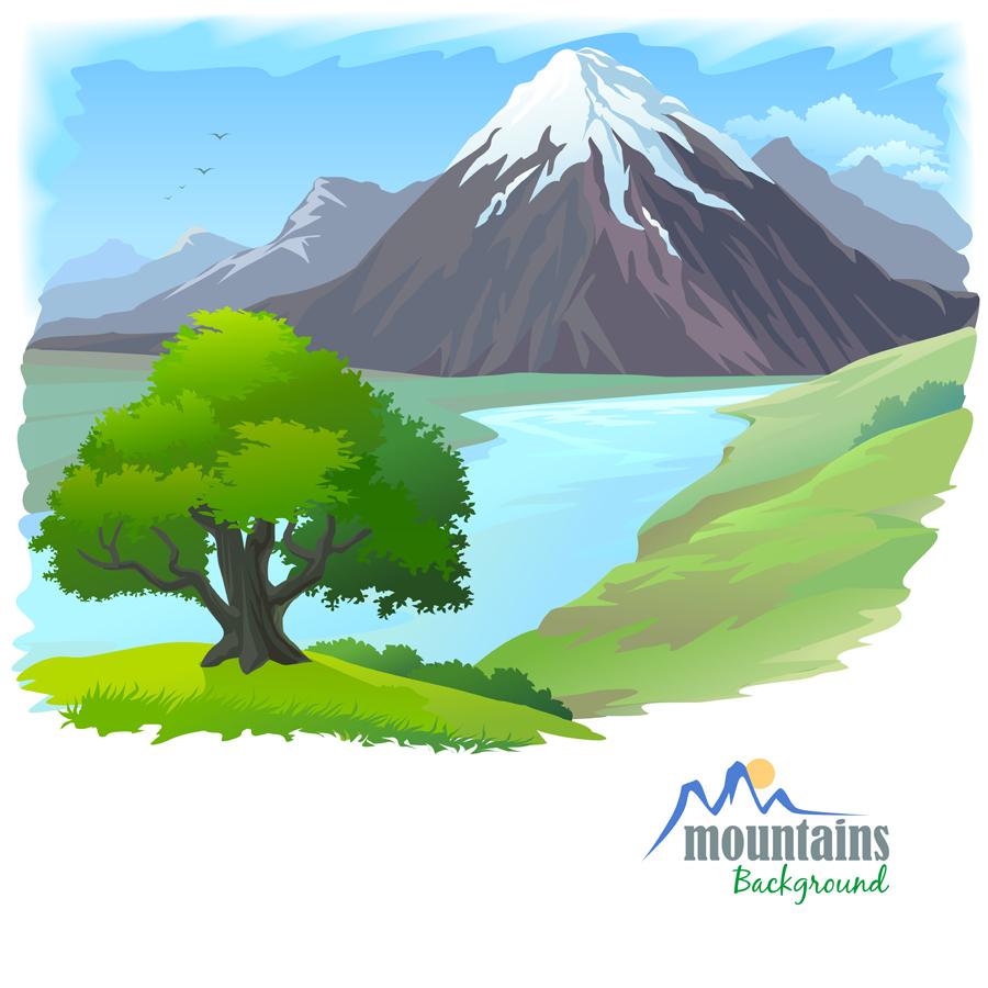 free vector clipart mountain - photo #25