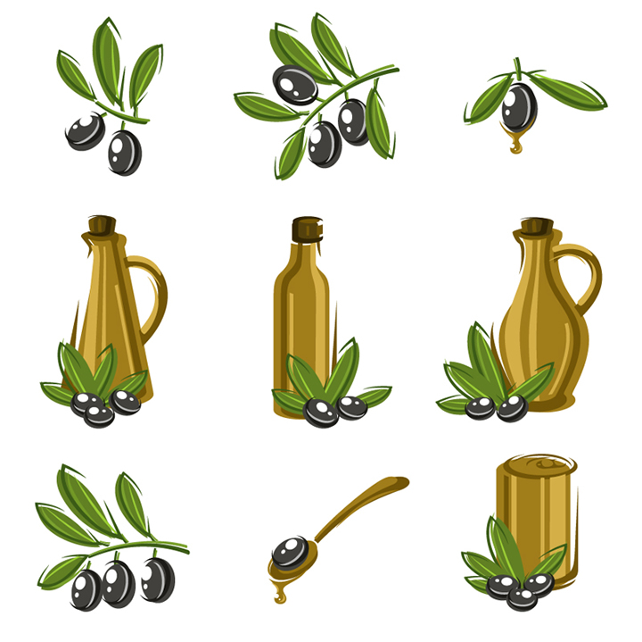 Olive Oil Icon Set 2