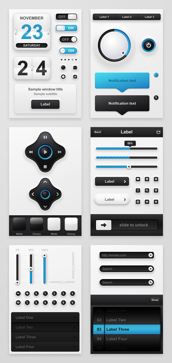Phone Interface Elements