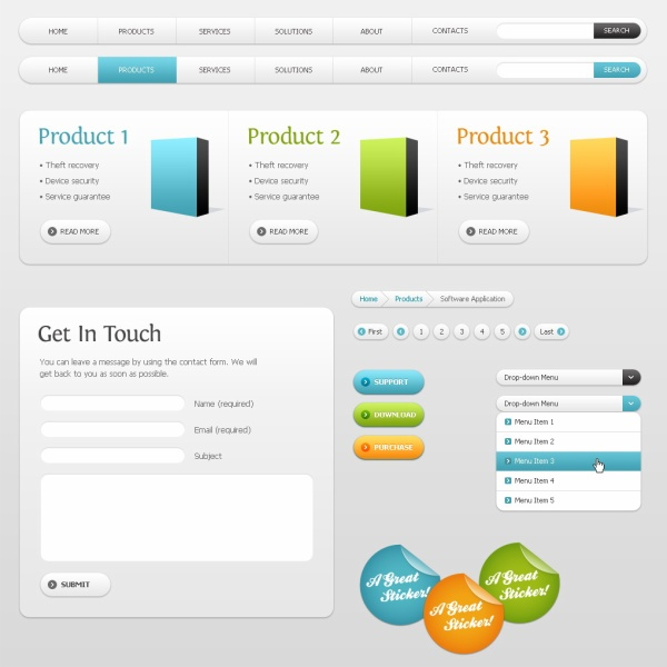 Product Web Design PSD