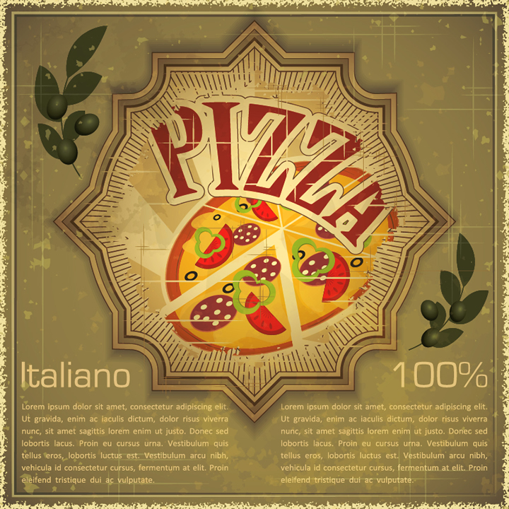 Retro Pizza Italiano