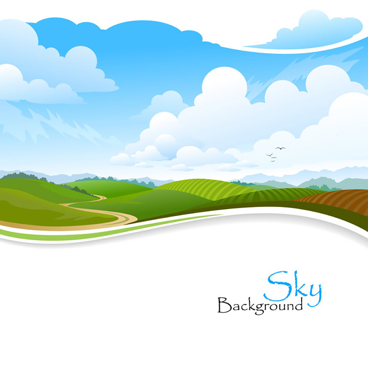 Sky Hills Background