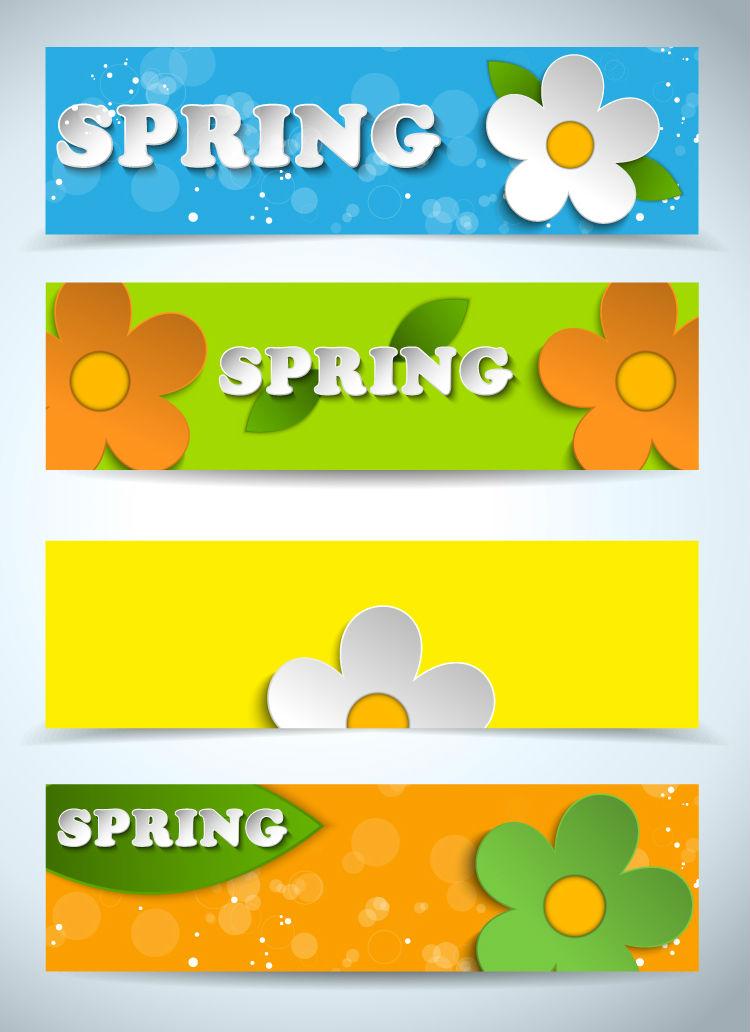 Spring Flowers Banner 2