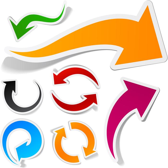 Swirl Arrows Infographics