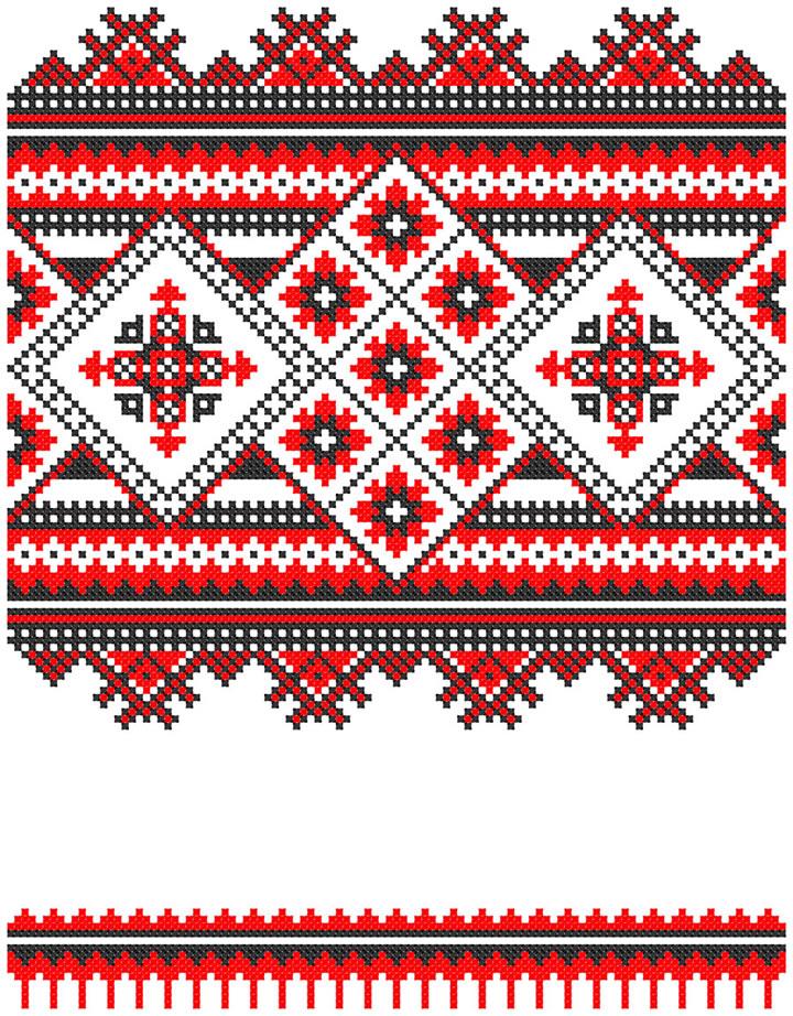 Ukraine pattern free vector graphic download