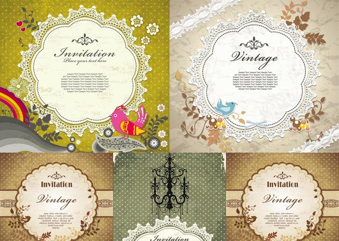 Vintage Invitation Set