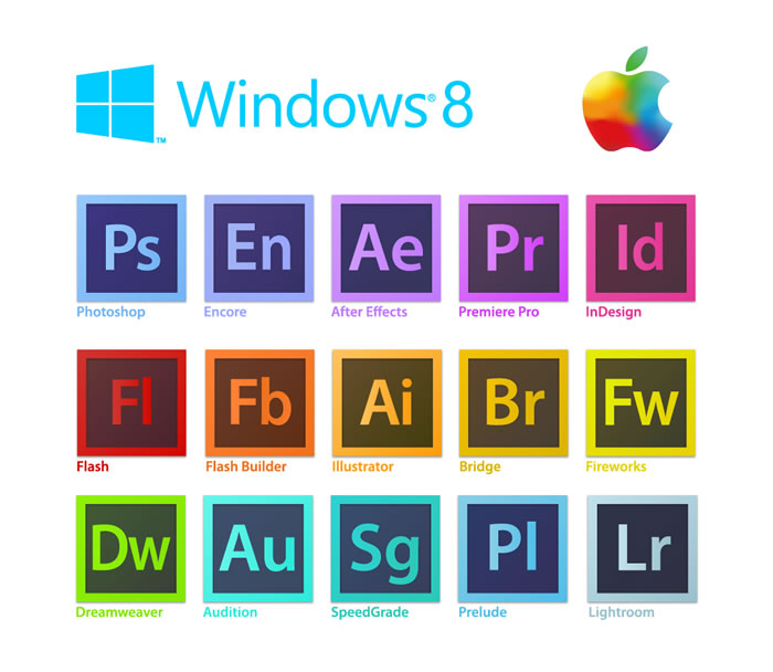 Apple2012 Win8 Adobe Logo Free Vector Graphic Download
