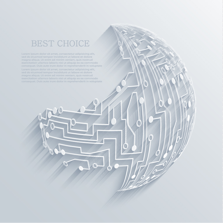 Abstract Route Map Background