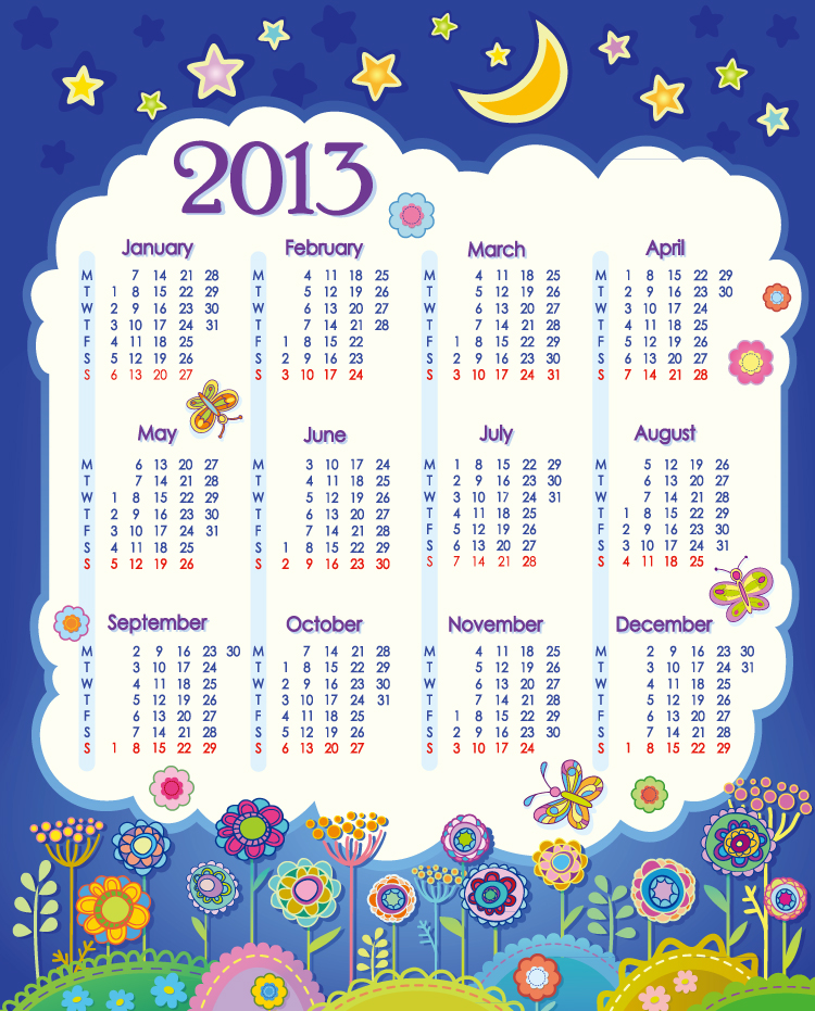 Calendar 2013 Night Star
