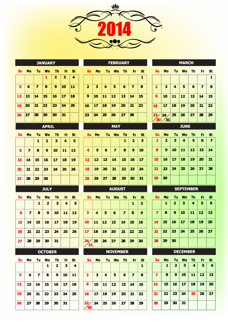 Calendar 2014 14
