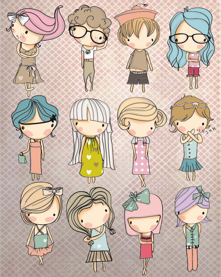 cartoon children cartoon children vector free download