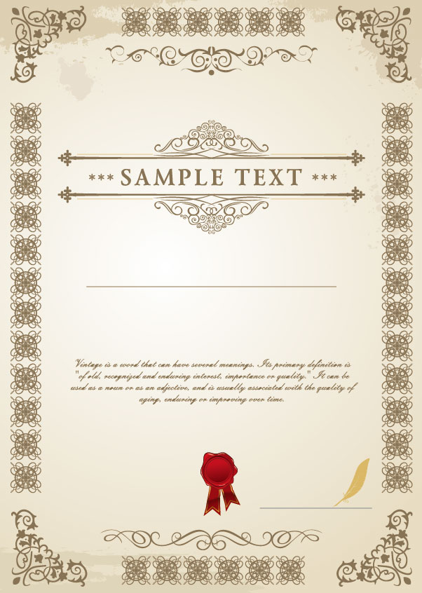Certificate 6 free vector graphic download certificate 6 certificate 6 vector free download yadclub Image collections