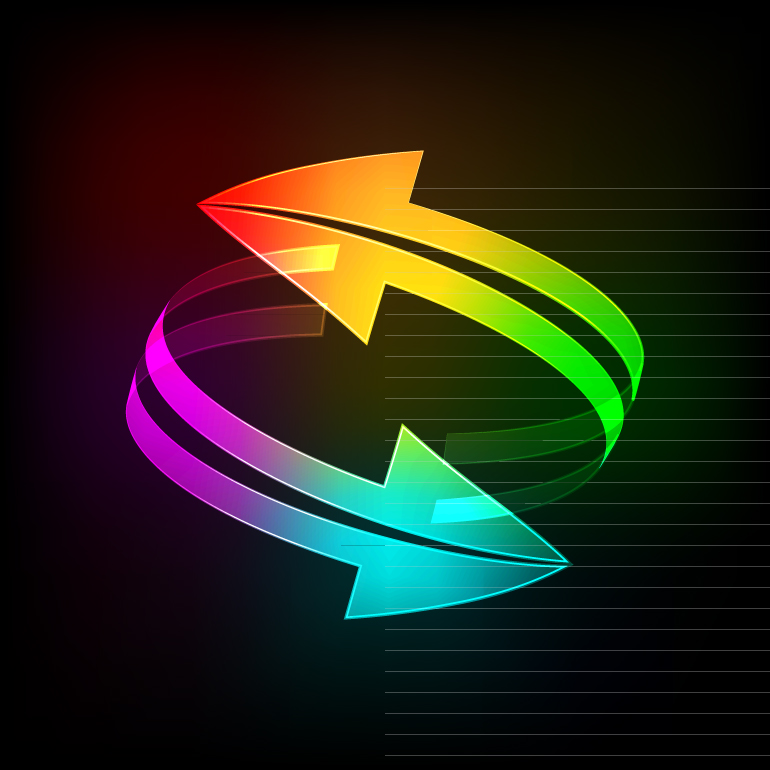 Color Arrow Background