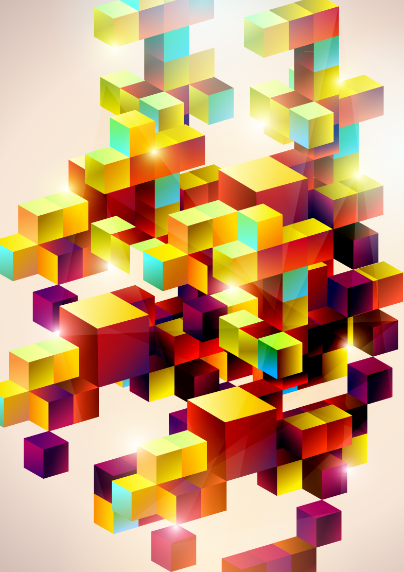 Colorful Box Background