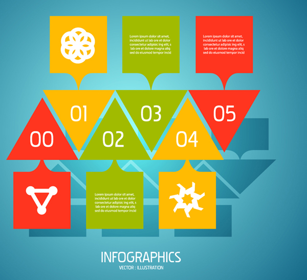 Colorful Infographics Number