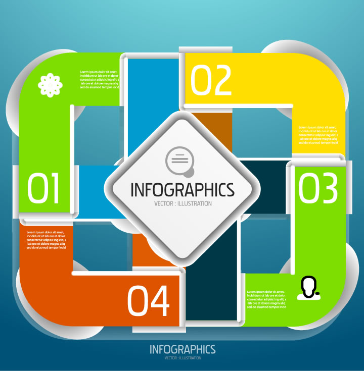 Colorful Numbered Infographics
