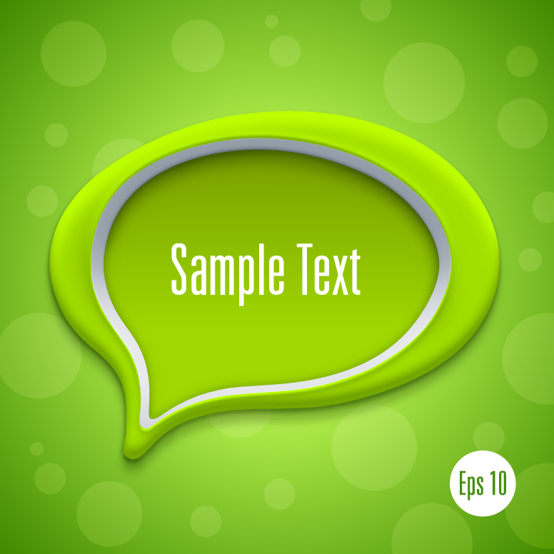 Detailed Talk Bubble Template 2
