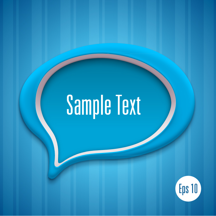 Detailed Talk Bubble Template 3