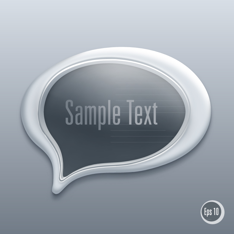Detailed Talk Bubble Template 4