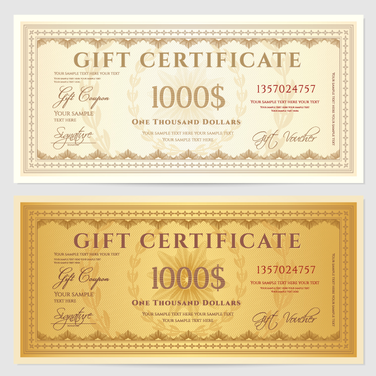 Gift certificate 2 free vector graphic download gift certificate 2 gift certificate 2 vector free download yadclub