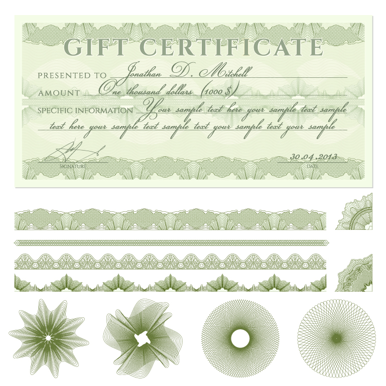 Gift certificate free vector graphic download gift certificate gift certificate vector free download yadclub Gallery