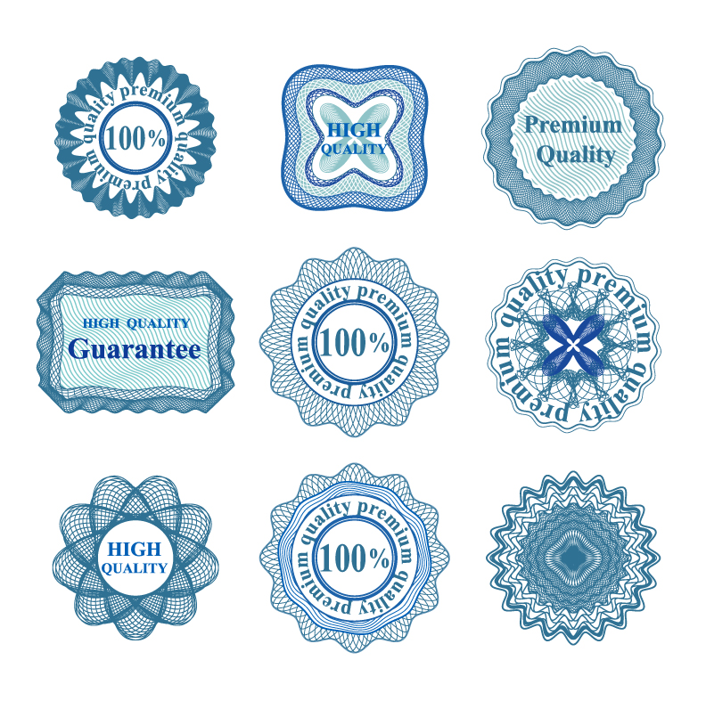 Guilloche Rosettes Guarantee Quality 2