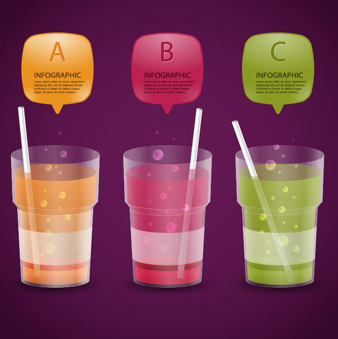 Infographic Beverage Cup