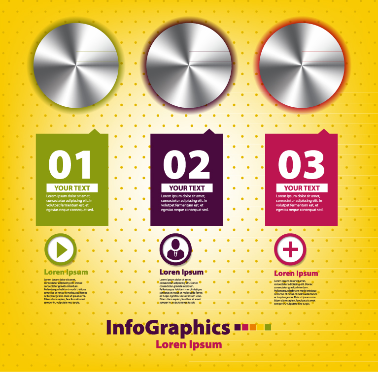 Infographics Button Numbered