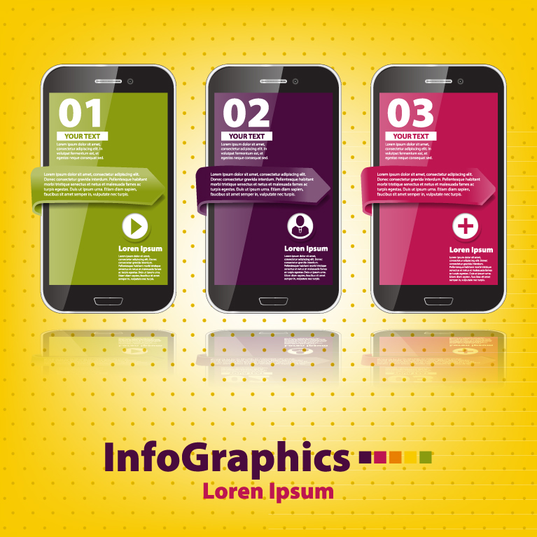 Infographics Mobile Numbered