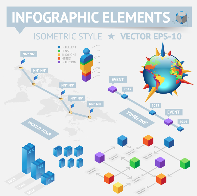Infographics and Chart Design Elements 11