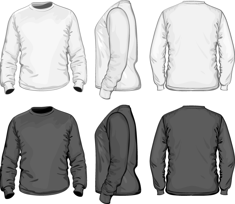 long sleeve tshirt templates vector joy studio design