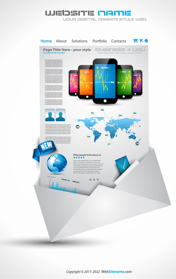 Mobile sales Web Template