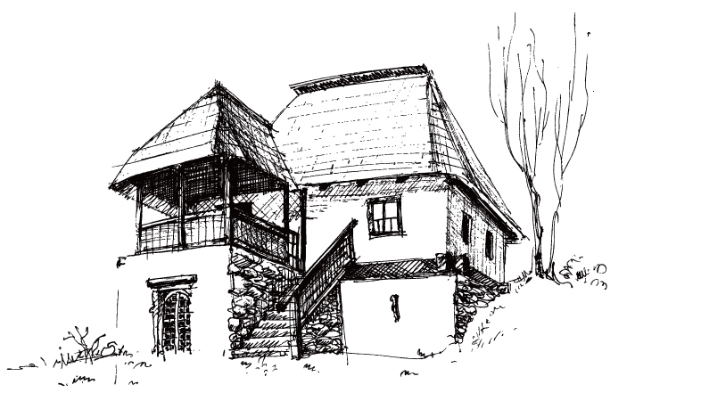 Old House Sketch 3