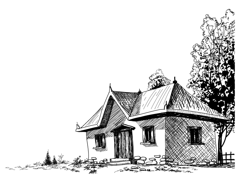 Old House Sketch 5
