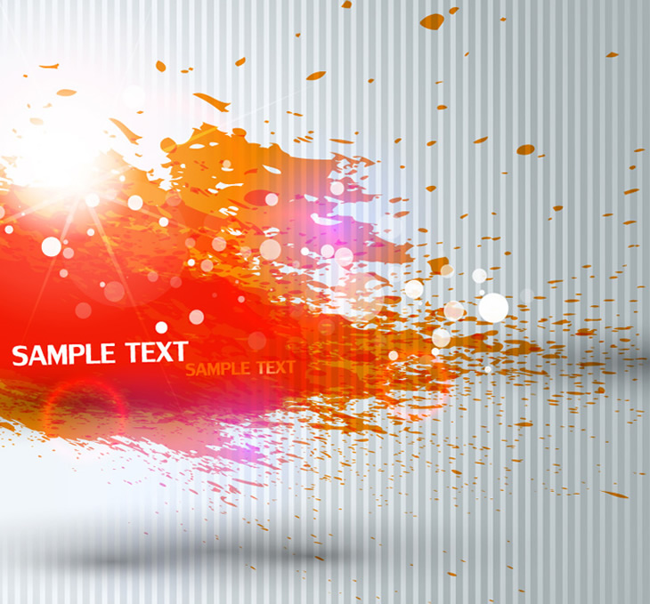 Orange inkjet Text Background