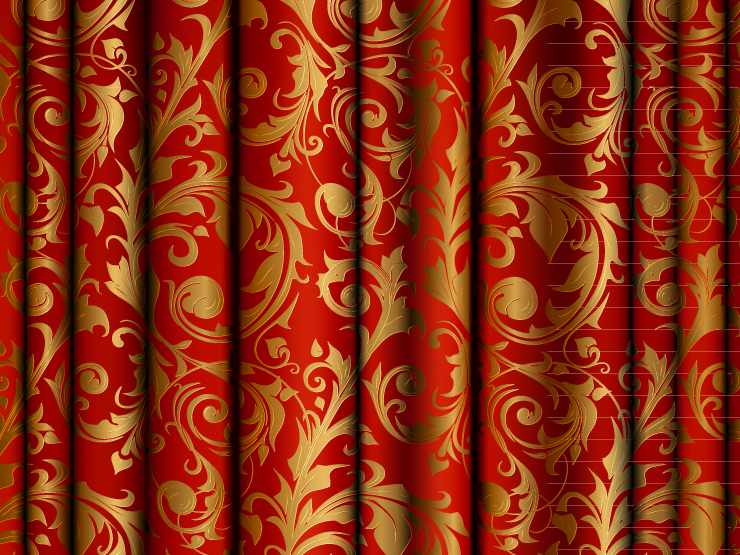 Curtains with patterns