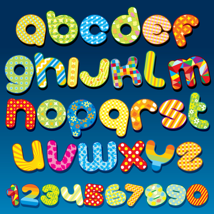 Playful Fabric Letters