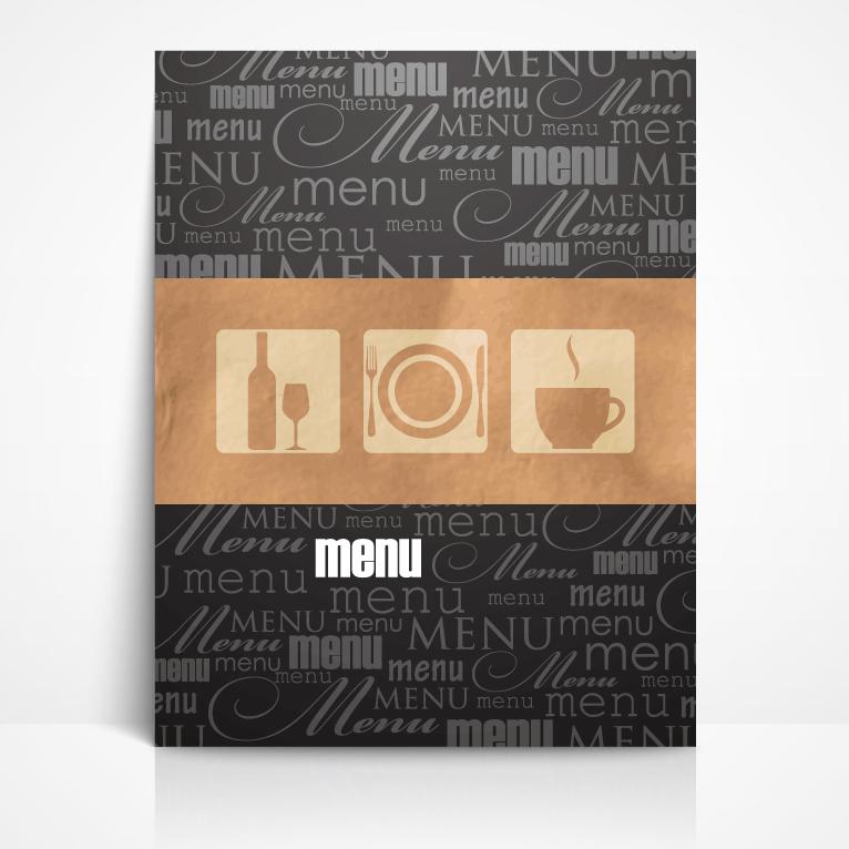 restaurant menu booklet free vector graphic download