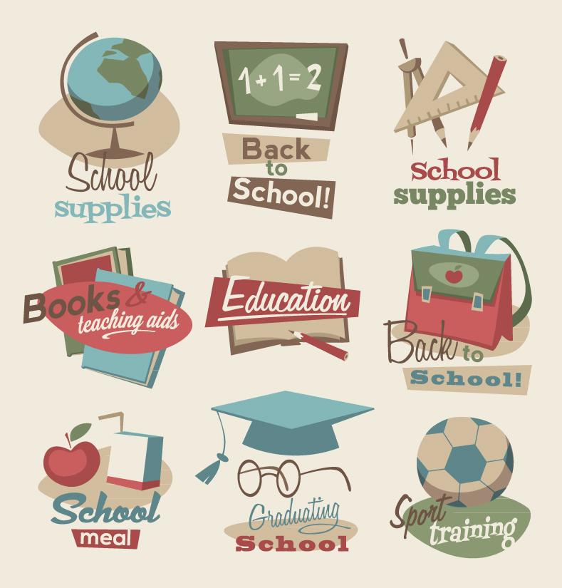 Retro Education Icon