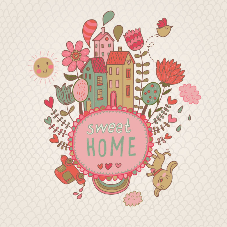 Sweet Home  Free Vector Graphic Download