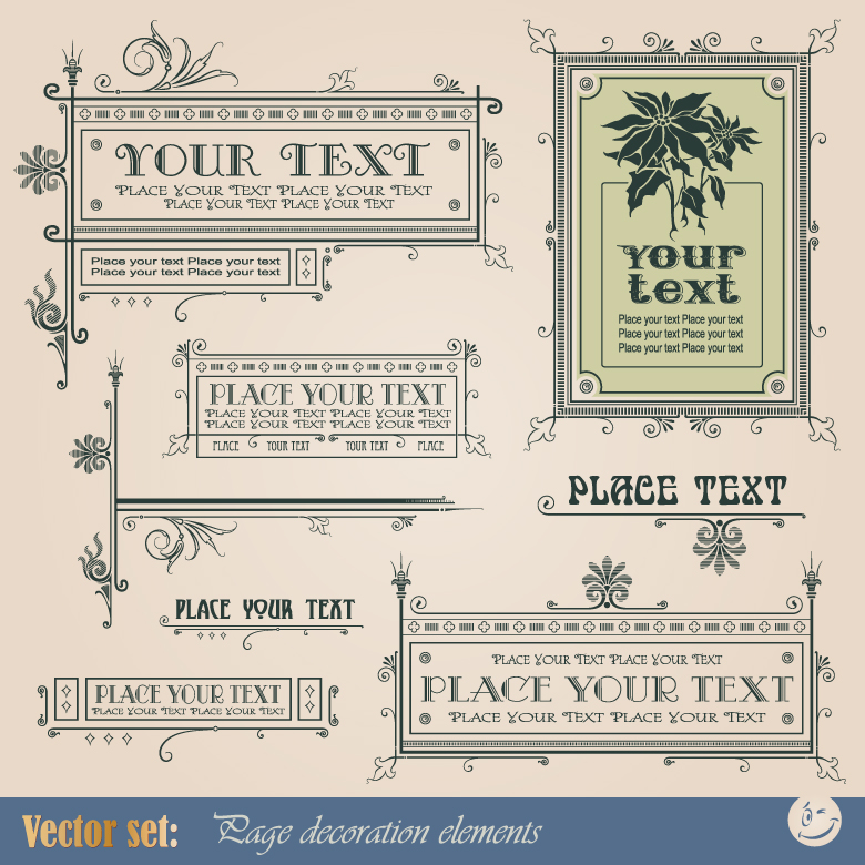Vintage Frame Decoration Elements 3