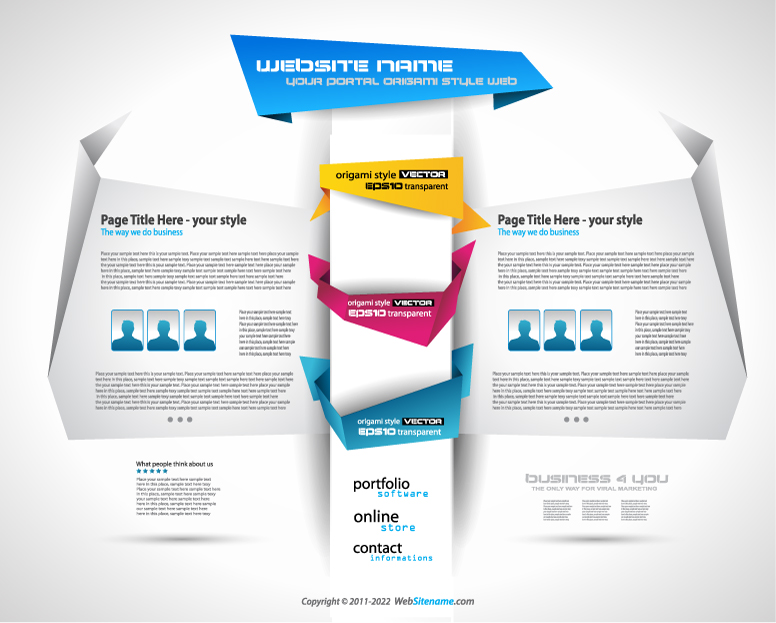 Web Templates | Free Vector Graphic Download