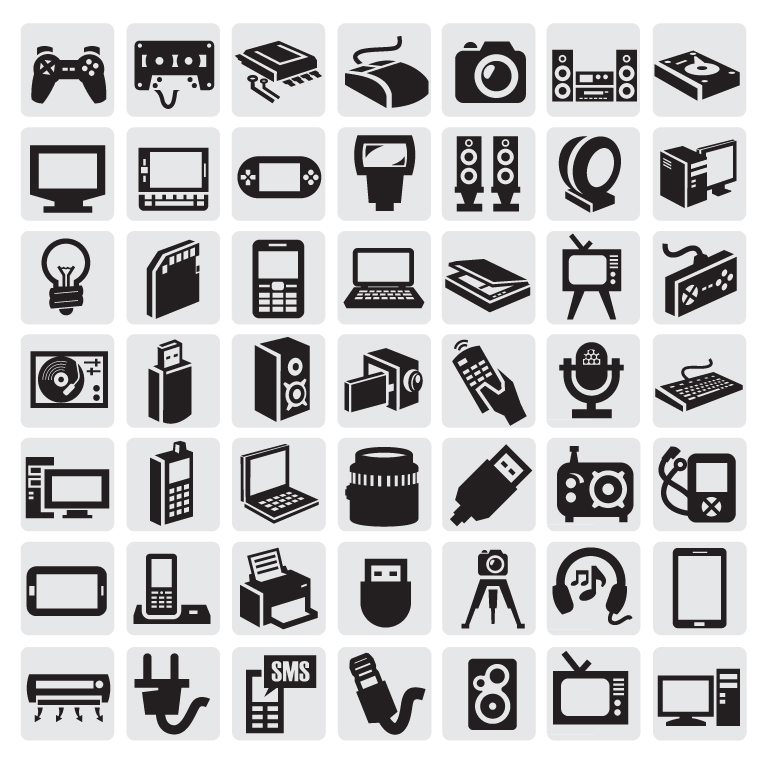Black and White Icon Set 2