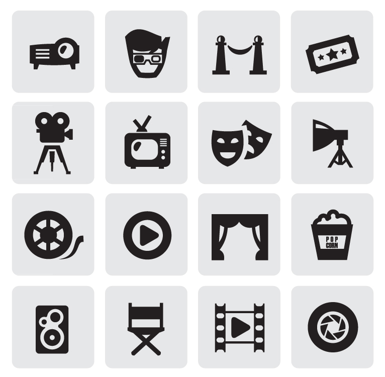 Black and White Icon Set 3