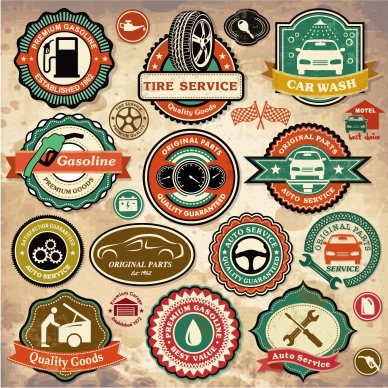 Car Service Labels