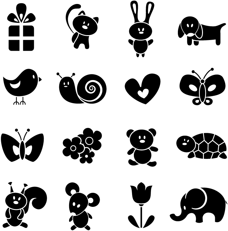 Cartoon Animal Silhouettes 2