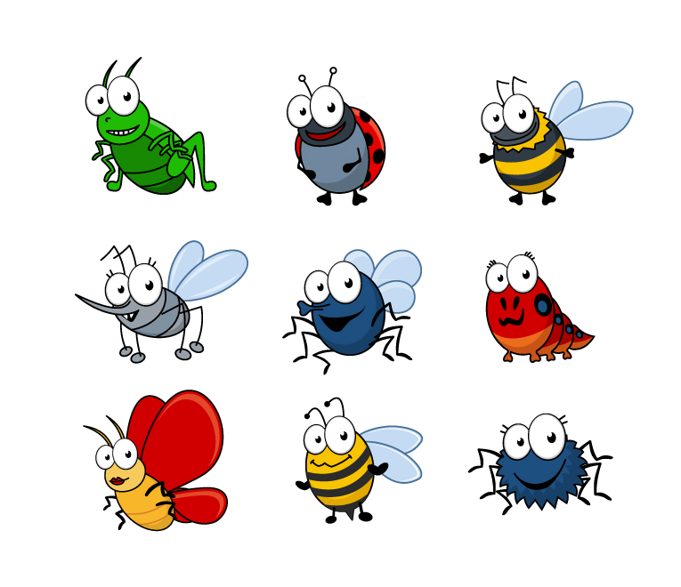 Cartoon Insects 4